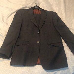 Joseph A Banks charcoal suit 40R 33x31